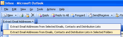 Extract Email Addresses from Outlook Screenshot 1