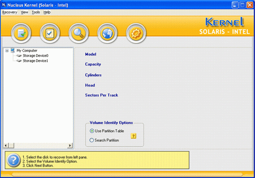 Solaris Intel Data Recovery Screenshot
