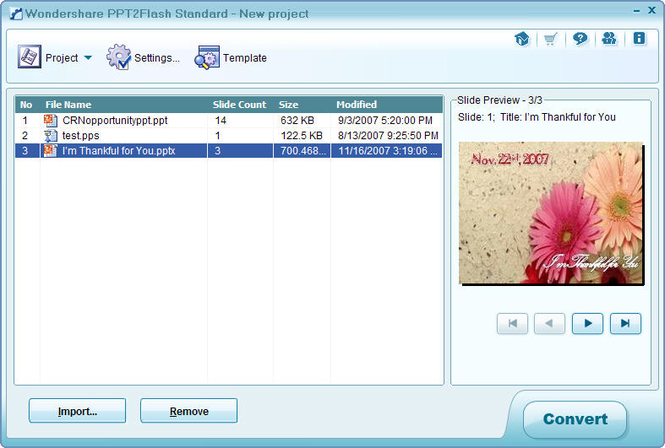 Wondershare PPT2Flash Std Screenshot