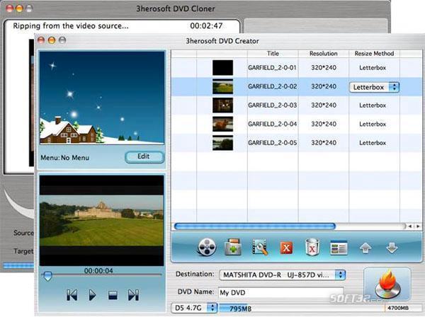 3herosoft DVD Maker Suite for Mac Screenshot 2