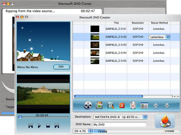 3herosoft DVD Maker Suite for Mac Screenshot