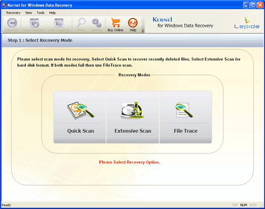 Recover Partition Screenshot