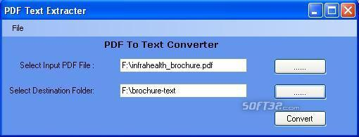 PDF To Text Software Screenshot 2