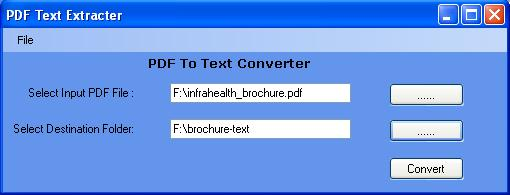 PDF To Text Software Screenshot