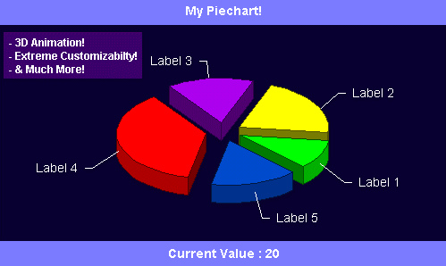 Check Out Our Java Applications and Make Your Own 3d Piecharts! Screenshot