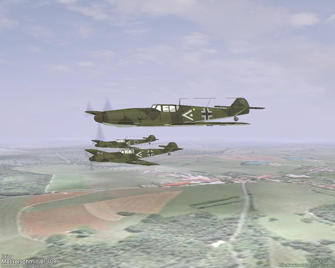 3D Flying Messerschmitt Bf109 Screenshot 1