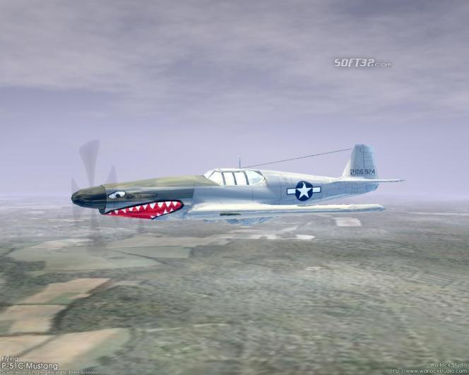 3D Flying P-51C Mustang Screensaver Screenshot 2