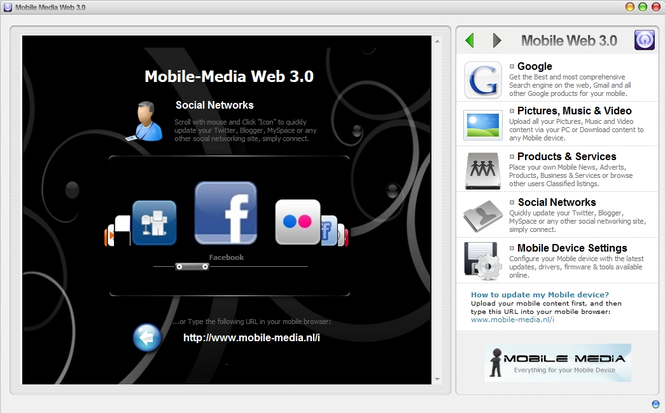 Mobile Media Web 3.0 Screenshot