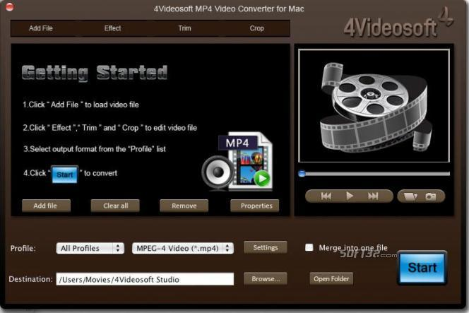 4Videosoft MP4 Video Converter for Mac Screenshot 3