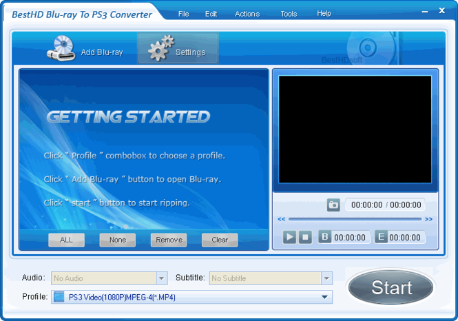 BestHD Blu-Ray to PS3 Converter Screenshot
