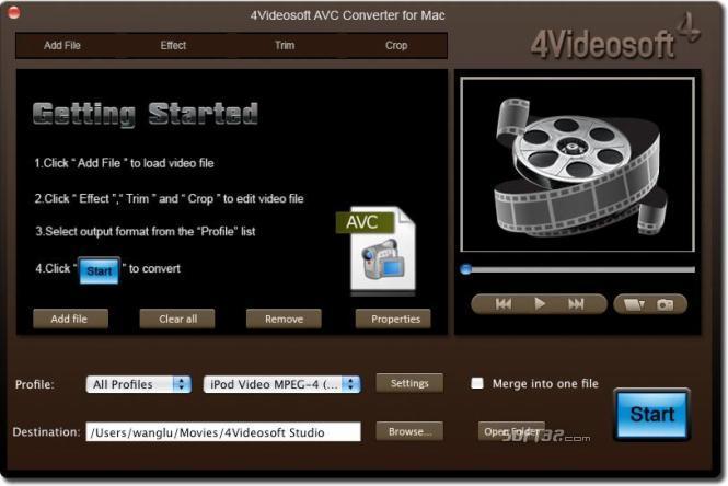 4Videosoft AVC Converter for Mac Screenshot 4