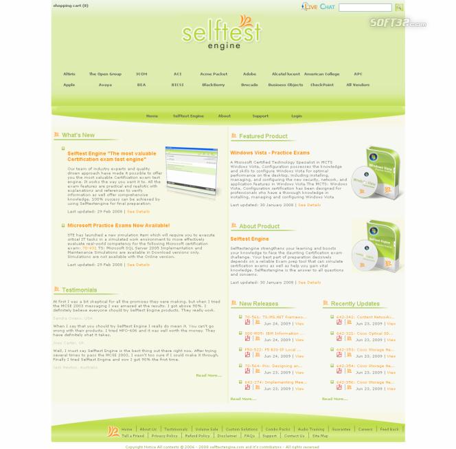 70-301 practice exam Selftest software Screenshot 3
