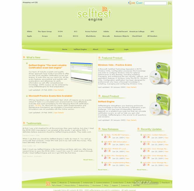 70-646 practice exam Selftest software Screenshot 3