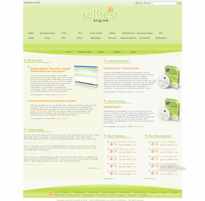 70-653 practice exam Selftest software Screenshot 3