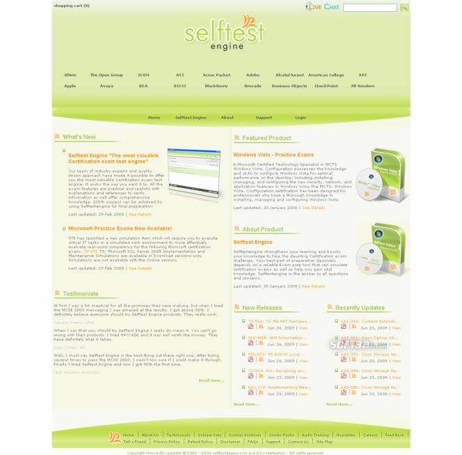 70-655 practice exam Selftest Engine Screenshot 3