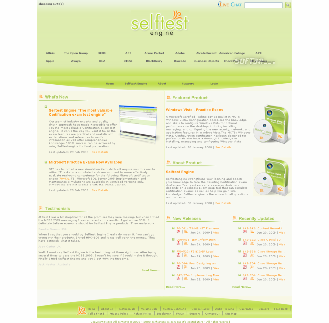 132-S-911 practice exam Selftest soft Screenshot 3