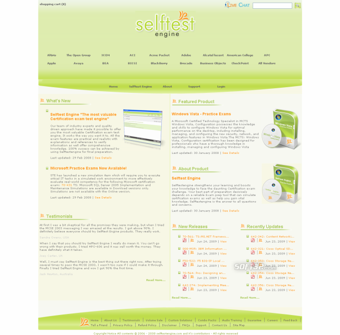Selftest software 190-955 practice exam Screenshot 3