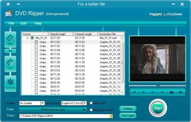 Tanbee DVD Ripper Screenshot