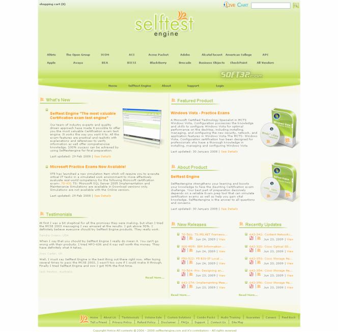 250-365 practice exam Selftest software Screenshot 2
