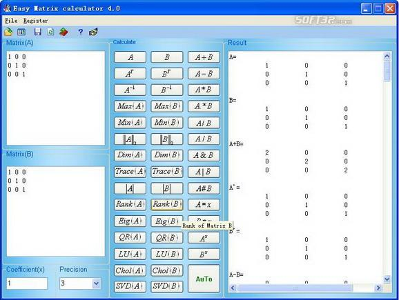 Easy Matrix Calculator Screenshot 2