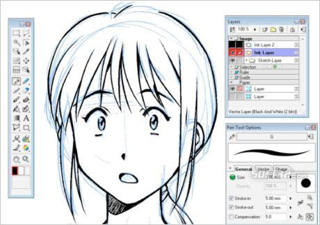 Manga Studio EX Windows Screenshot 2