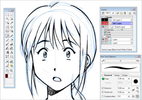 Manga Studio EX Mac Screenshot