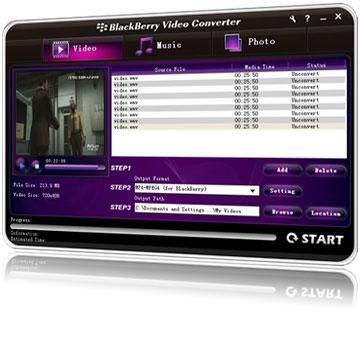 Blackberry Video Converter Screenshot