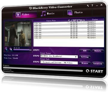 Blackberry Video Converter Screenshot 2