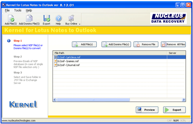 Lotus Notes to Exchange Screenshot