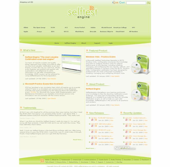 Selftest Engine 642-446 practice exam Screenshot 2