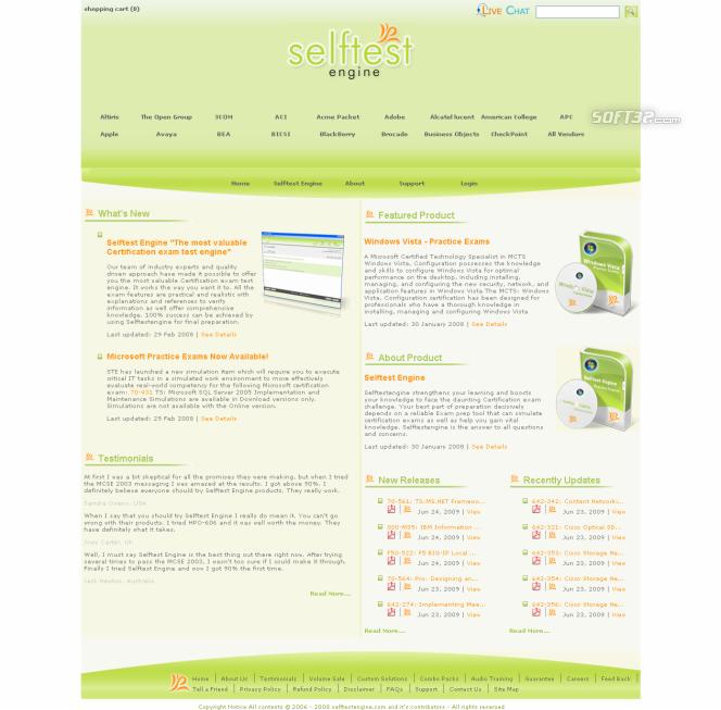 Selftest software 642-524 practice exam Screenshot 2