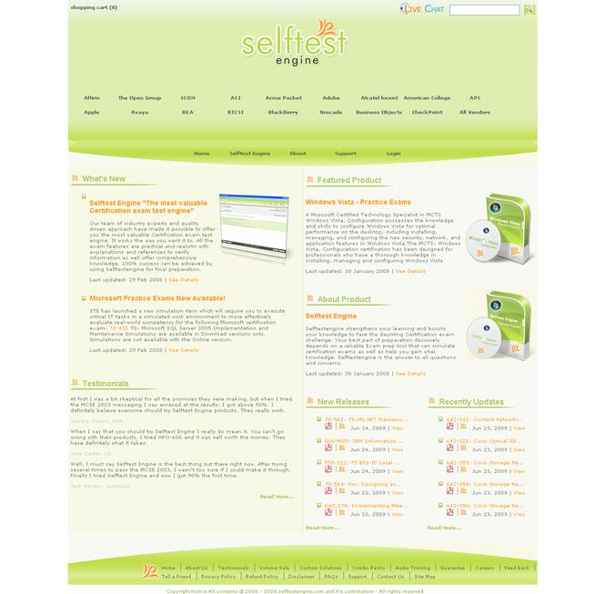 Selftest software 642-524 practice exam Screenshot 1