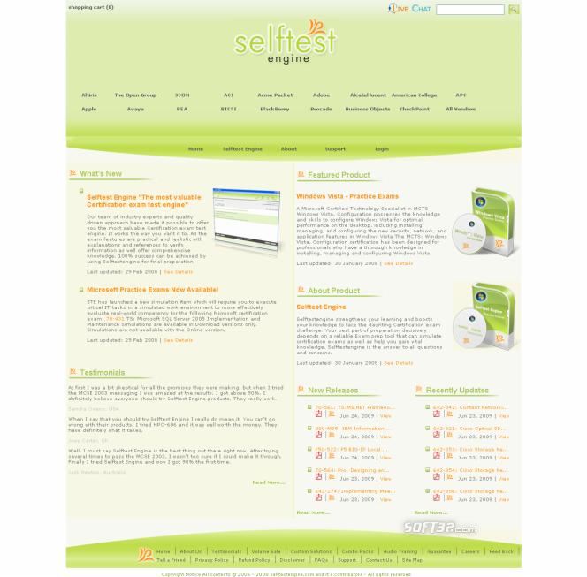 Selftest software642-591 practice exam Screenshot 3