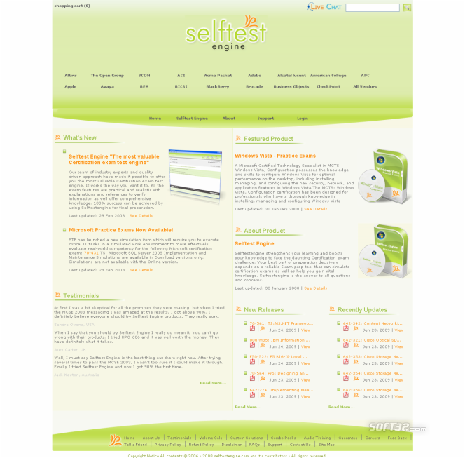 Selftest Engine 920-337 practice exam Screenshot 3