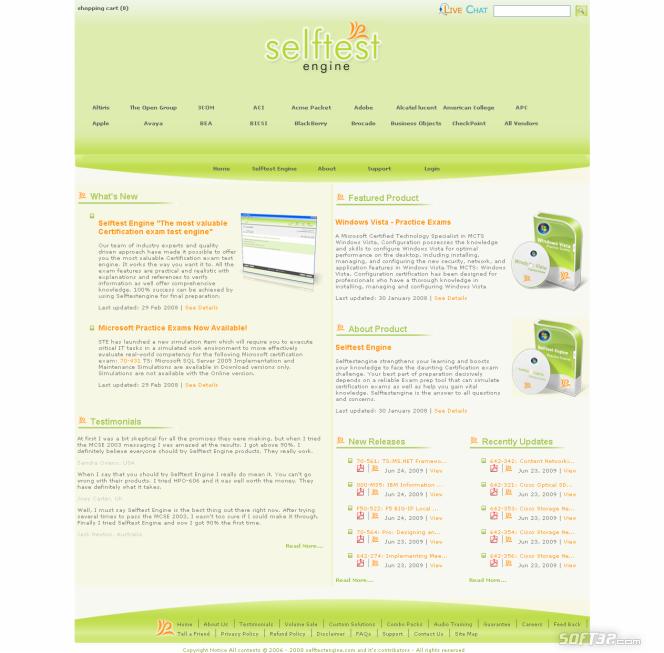 Selftest software 920-464 practice exam Screenshot 3