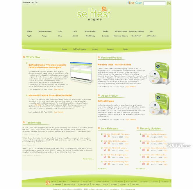 BH0-006 practice exam Selftest Engine Screenshot 3