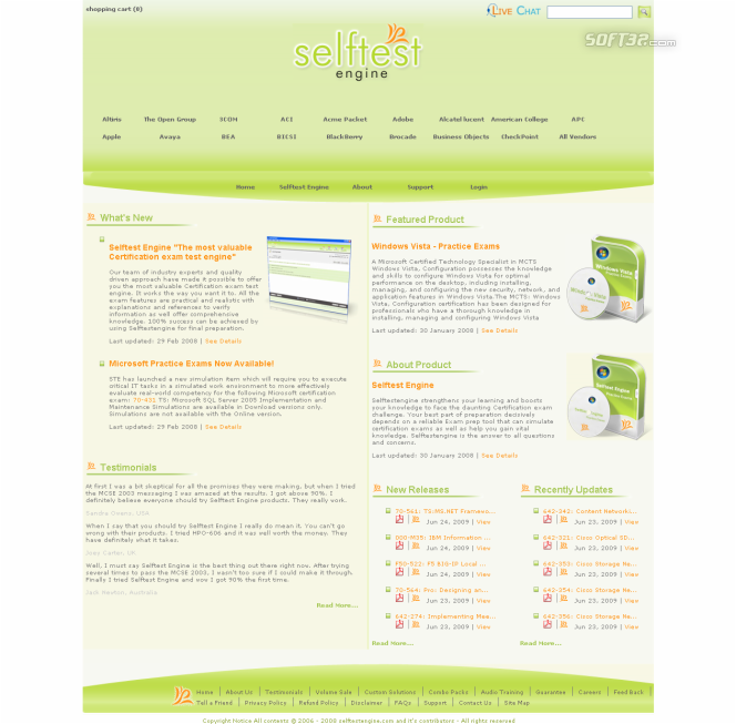 Selftest software HP0-J12 practice exam Screenshot 3