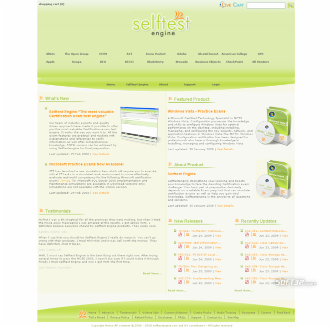 Selftest software HP0-J28 practice exam Screenshot 3