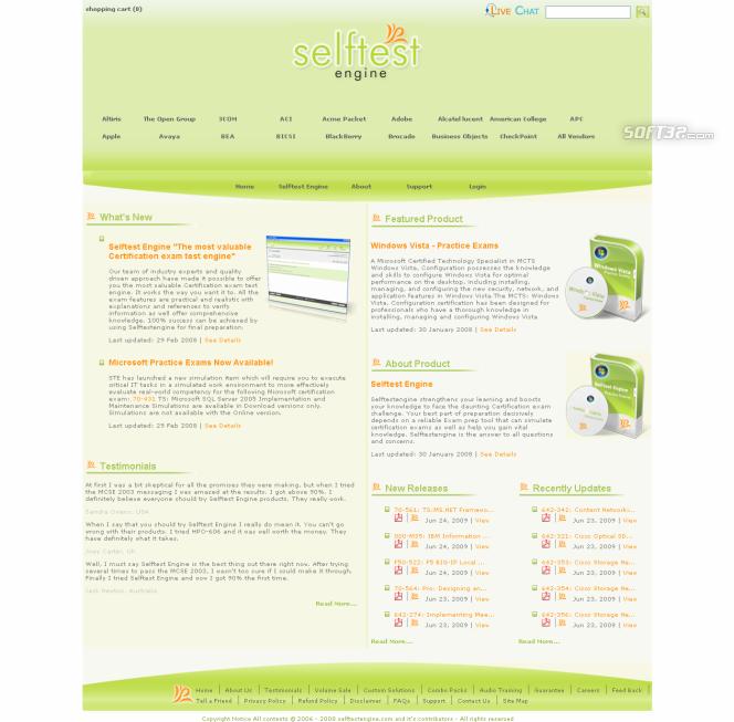 Selftest Engine HP0-P13 practice exam Screenshot 3