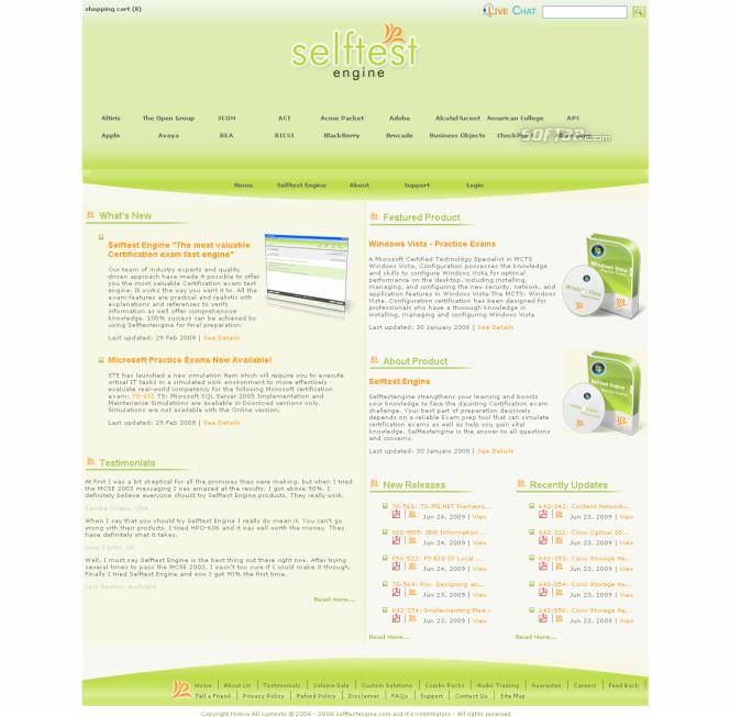 Selftest Engine HP0-S15 practice exam Screenshot 3