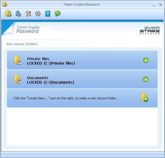 Crypto Password Protect Folder Screenshot