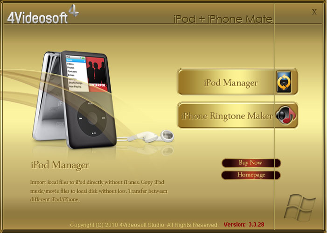 4Videosoft iPod + iPhone Mate Screenshot
