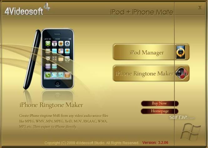 4Videosoft iPod + iPhone Mate Screenshot 3