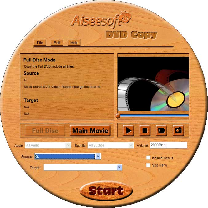 Aiseesoft DVD Copy Screenshot