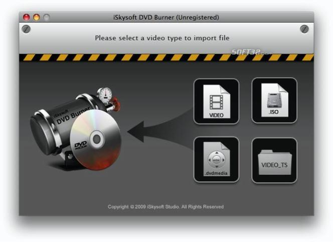 iSkysoft DVD Burner for Mac Screenshot