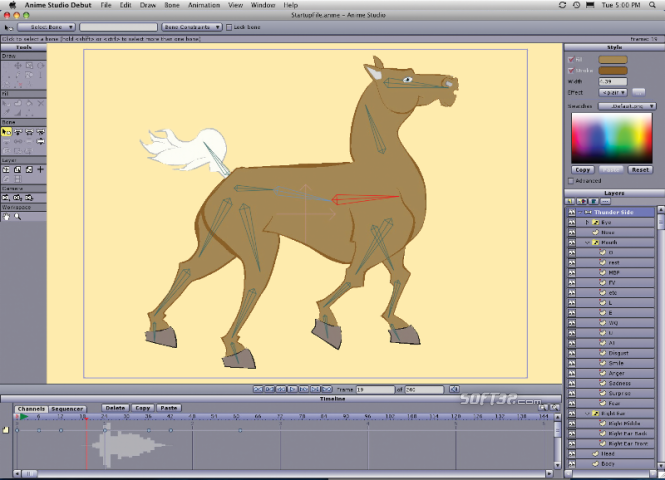 Anime Studio Debut Mac Screenshot 2