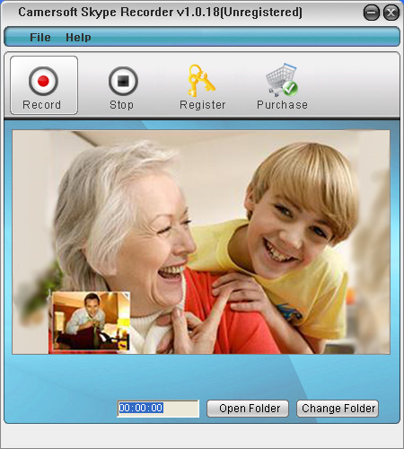 Camersoft Skype Recorder Screenshot 1