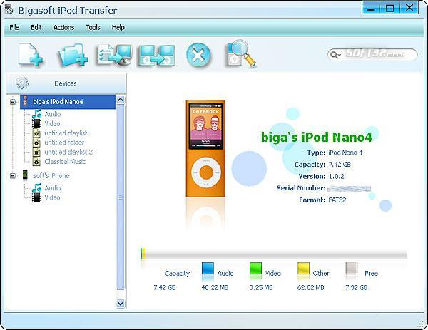Bigasoft iPod Transfer Screenshot 2