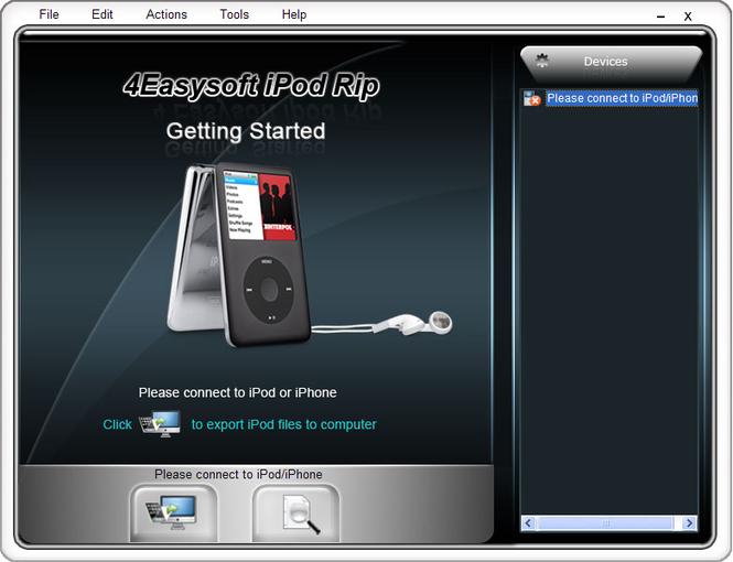 4Easysoft iPod Rip Screenshot