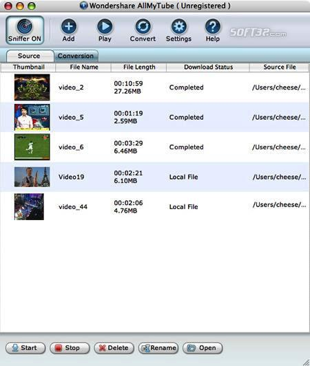 Wondershare AllMyTube for Mac Screenshot 2